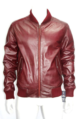 Ryan Mens Fashion 70s Classic Retro Celebrity Oxblood Red Leather ...