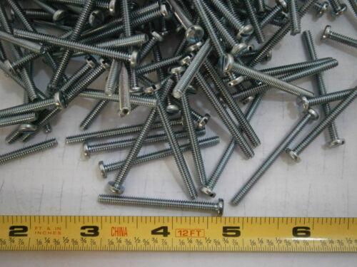 Machine Screws 6//32 x 1-3//4 Slotted Pan Head Steel Zinc Plated Lot of 50 #2515