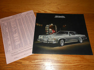CATALOG including 74 SJ 1974 PONTIAC GRAND PRIX ORIGINAL SALES BROCHURE