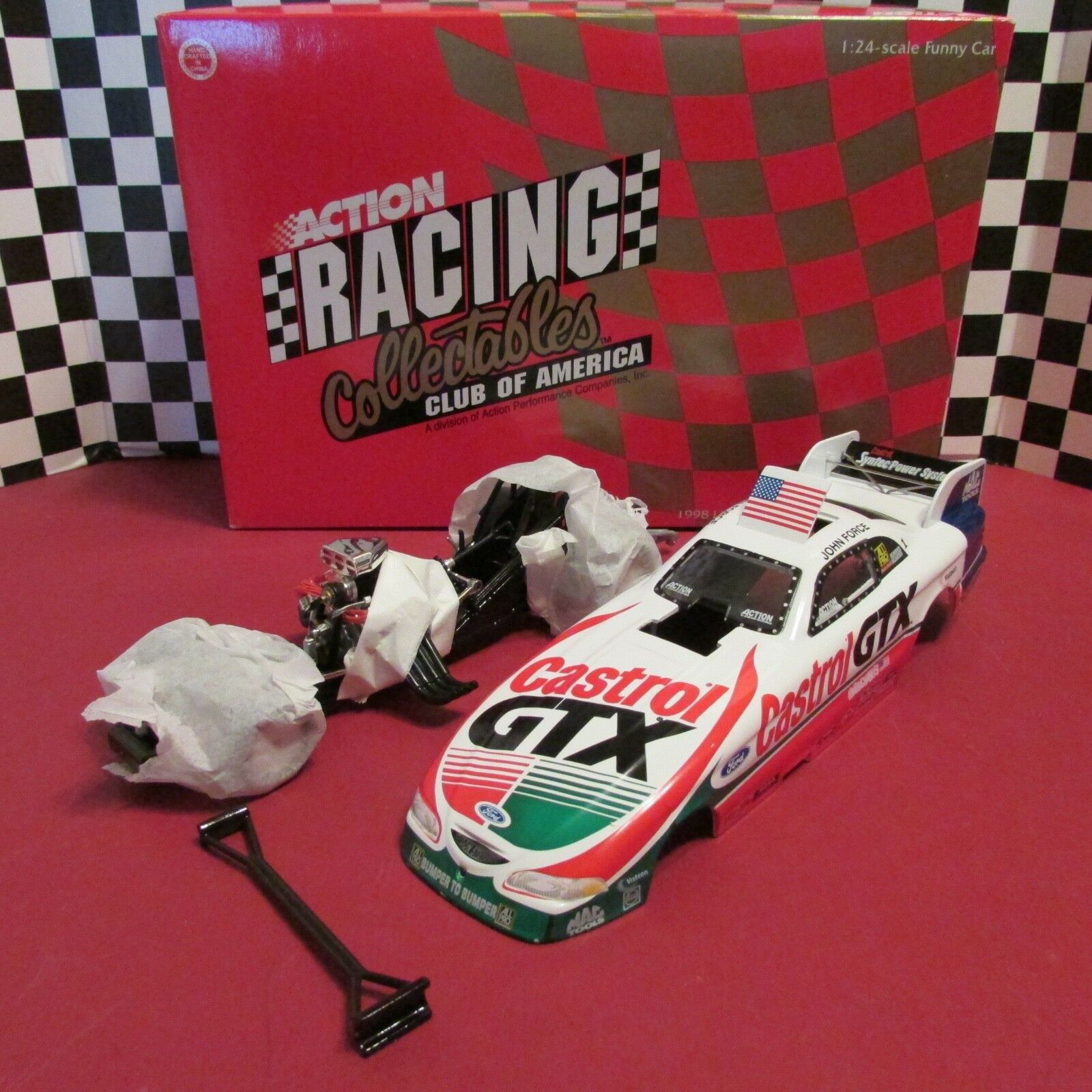 NHRA,1998 Ford Mustang Funny Car,1:24 scale, Castrol,John Force, LE,1/2500