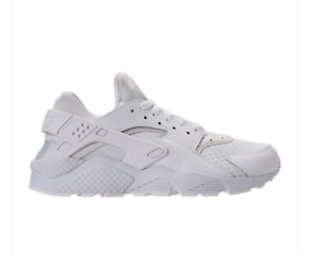NEW Men's Nike Air Huarache Run 318429-111 Running shoes White Pure Platinum c1