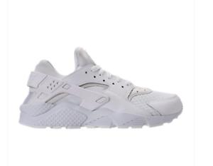 NEW Men's Nike Air Huarache Run 318429-111 Running Shoes White/Pure Platinum c1