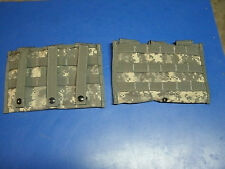 MOLLE II ASSAULT TRIPLE MAG POUCH SET OF 2 POUCHS UNUSED ACU CAMO NEW