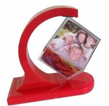 Happy GiftMart Rotating Photo Frame 360 Degree Floating Photo Cube Frame [Red]