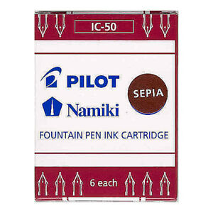 Pilot-Namiki-Fountain-Pen-Ink-Cartridge-Sepia-6pk-Refill