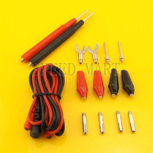 Multifunction Universal Test Lead Probe Cable Alligater clips Set kit Multimeter