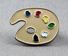Metal Enamel Pin Badge Brooch Artist Pallet Painter Paint Draw