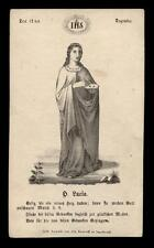 santino incisione 1800 S.LUCIA V.M.
