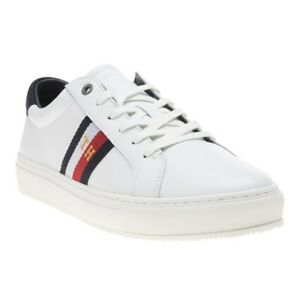 New MENS TOMMY HILFIGER WHITE CORPORATE