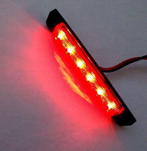 2 Large BBT 12 volt Marine Grade Waterproof Red LED Accent Lights