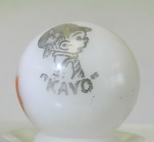 7836m Rare Vintage Peltier Kayo Comic Picture Marble .68 Inches *Mint*