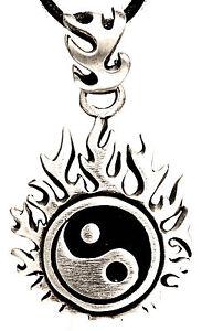 Yin And Yang Asian Yunnan China pendant Tin Band / Chain Nr.61