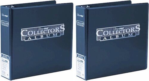 Free UK Post Blue 2 x Blue Ultra Pro Collectors Album//Binder 3 Inch 3 Ring