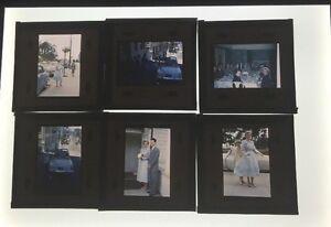 Lot-Of-24-Vintage-Color-Slides-50-039-s-Wedding-Photos