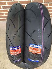 FULL BORE USA SPORT BIKE MOTORCYCLE TIRES TWO TIRE SET 120/70ZR17 & 200/50ZR17