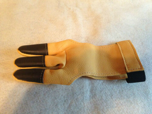 Neet  Archery Shooting Glove Reinforced leather tips Deerskin made in the USA
