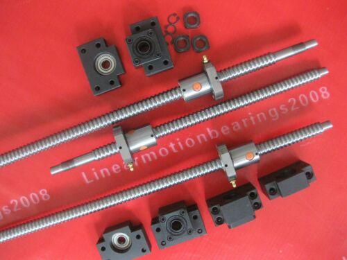 3 Lead screw ball screw RM1605-300//900//1150mm ballscrews 3 sets BK//BF12