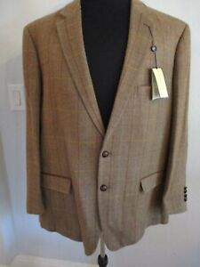 Nwt Alan Fluser Xxl Taupe Plaid 2 Button Sports Jacket Fully Lined $179.00 Ideal Gift For All Occasions