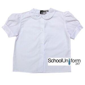 65c0096e1528e Zeco Girls Short Sleeve Lace Collar Blouse Shirt - School Uniform ...
