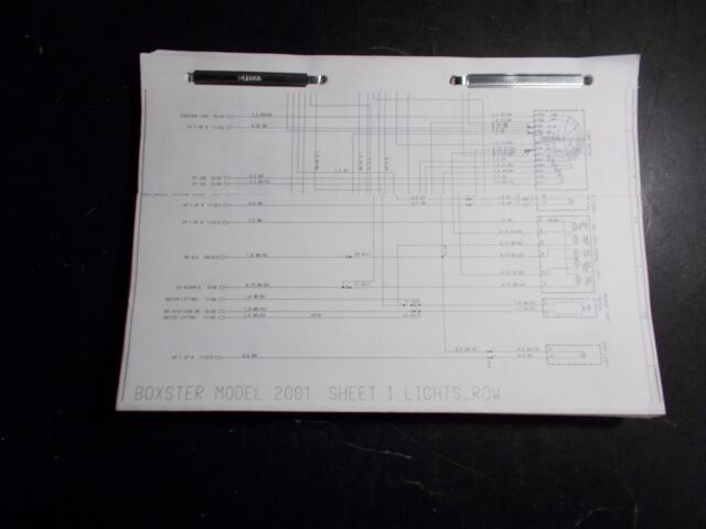 2001 Porsche Boxster Wiring Circuit Diagrams Technical