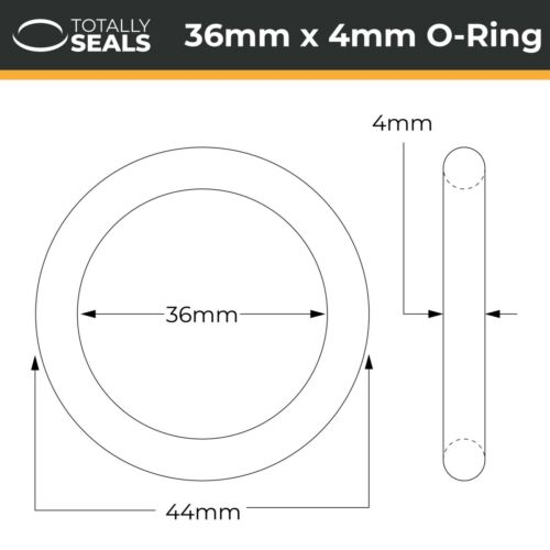 O-Rings 44mm Outer Diameter Nitrile Rubber 70A Shore Metric Seals Packets OD