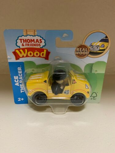 Thomas Friends Wood Wooden Ace The Racer Train Car Fisher Price 2018 NEW in Pkg