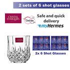 CRISTAL 12X SHOT GLASSES, D'ARQUES 4.5cl