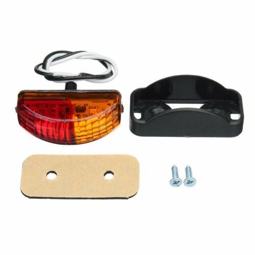 10X Red//Amber LED Side Marker Lights Lamp Trailer Truck Lorry Caravan Van 12-24V