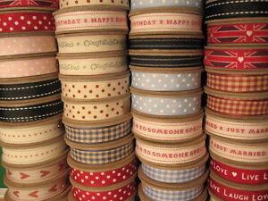 Vintage-Large-Fabric-Ribbon-Reel-3m-Metres-Roll-Retro-Vintage-Style-East-India