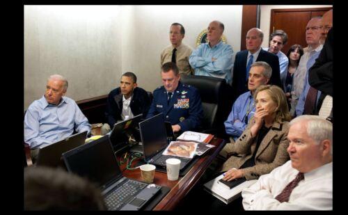 Biden Barack Obama PHOTO Hillary Clinton Situation Room Osama Bin Laden Killed
