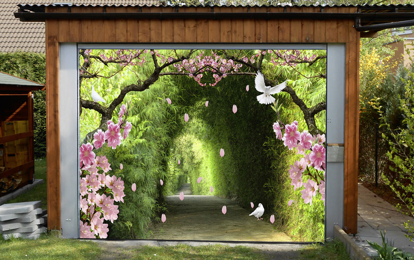 3D Bambù Fiori 014 Garage Porta Stampe Parete Decorazione Murale AJ WALLPAPER IT