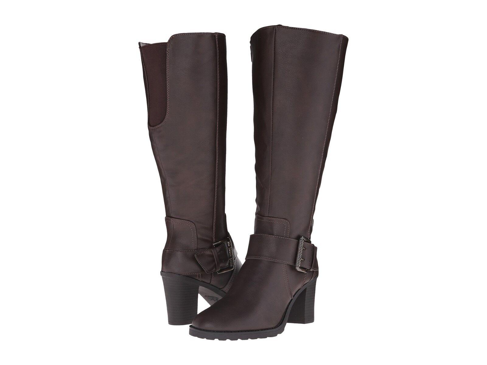 New LIFESTRIDE Sasha Dark braun Knee Knee Knee High Riding Stiefel 5.5 377c89