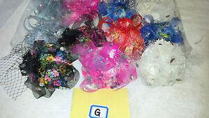 Joblot 12 pcs Feather /& Sinamay Hair Fascinator on Hairclip NEW wholesale Lot I