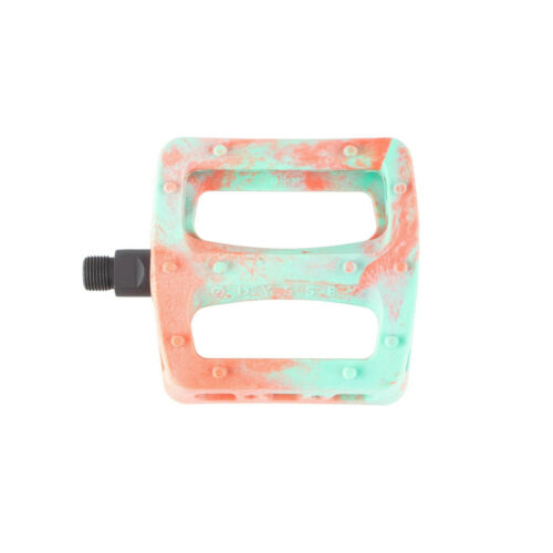 Toothpaste//Bright Red Swirl Odyssey BMX Twisted Pro PC Pedals