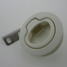 1PC White Plastic Boat Deck Hatch 1/2'' Door 2'' Flush Pull Slam Latch Awesome