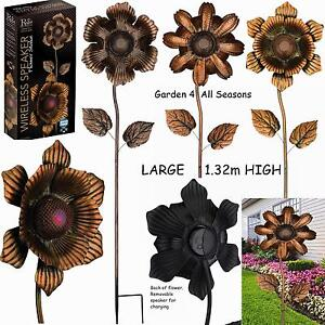 Image Is Loading Waterproof Speaker Bluetooth Music Garden Flower Stakes  Creekwood