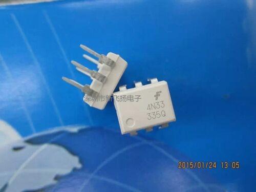 10PC Fairchild 4N33 in-line DIP-6 optical isolator photoelectric output,