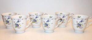 NEW-Set-of-6-Vintage-Nikko-Tableware-Blue-Peony-Cups-Mugs-China-Dish-Tea-Coffee