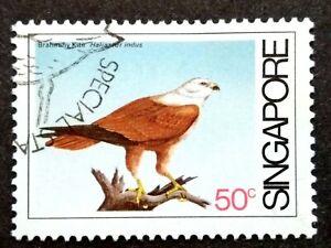 Singapore-1984-Coastal-Birds-50c-Brahminy-Kite-1v-Used