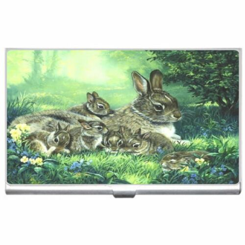 Rabbit Family Metal Business Credit Card Case Holder