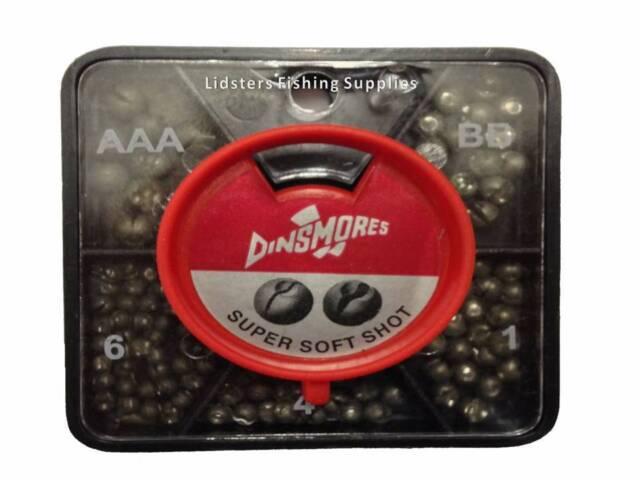 Dinsmore 6 way MINI TUB Division Fishing Split Shots Dispenser Super Soft