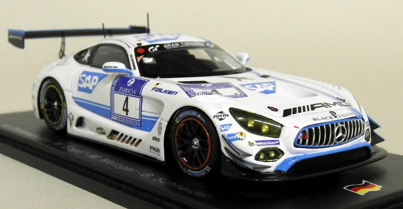 Spark 1 43 Scale SG231 Mercedes AMG GT3 Winner Nurburgring 2016 Resin Model Car