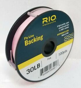Rio 30 lb De Dacron Backing in Black Fly Ligne /& Bobine Support environ 13.61 kg Bobine 100 Yd environ 91.44 m