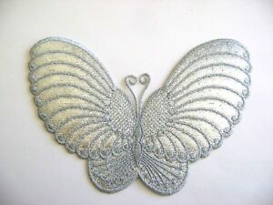 BUTTERFLY-SILVER-EMBROIDERED-IRON-ON-APPLIQUE-PATCH