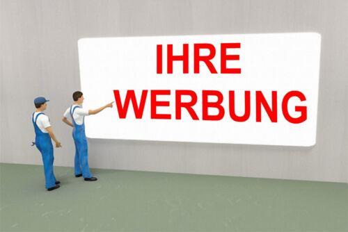 Werbebanner Werbeplane Außenwerbeplane mit Ösen 400 cm x 80 cm farbig bedruckt