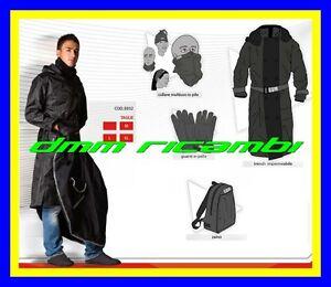 Kit-tuta-antipioggia-CGM-moto-scooter-giacca-lung-collare-guanti-Tg-M