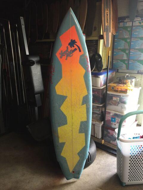 *RARE* Vintage 80's LOCAL MOTION-PAT RAWSON Surfboard w/New Wave Art!