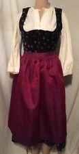 Kobler German VINTAGE Dirndl Women's Velvet 3 Piece  Dress - Size 38