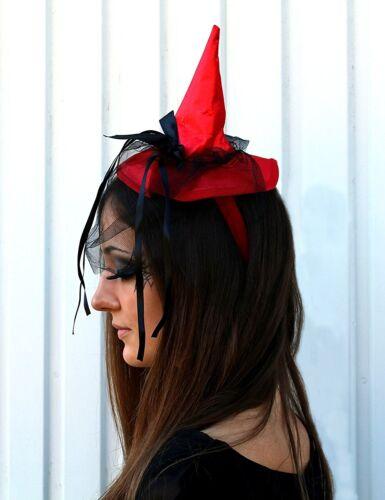 Mini hexenhut bijou rouge avec noir Boucle Sorcière Halloween 125702913