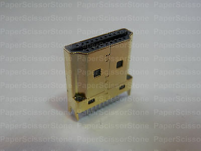 5Pcs HDMI Type A Socket Female Plug Gold Plated Soldering Inner Board Connector